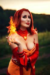 Dota 2 cosplay: Lina by Kak-Tam-Ee