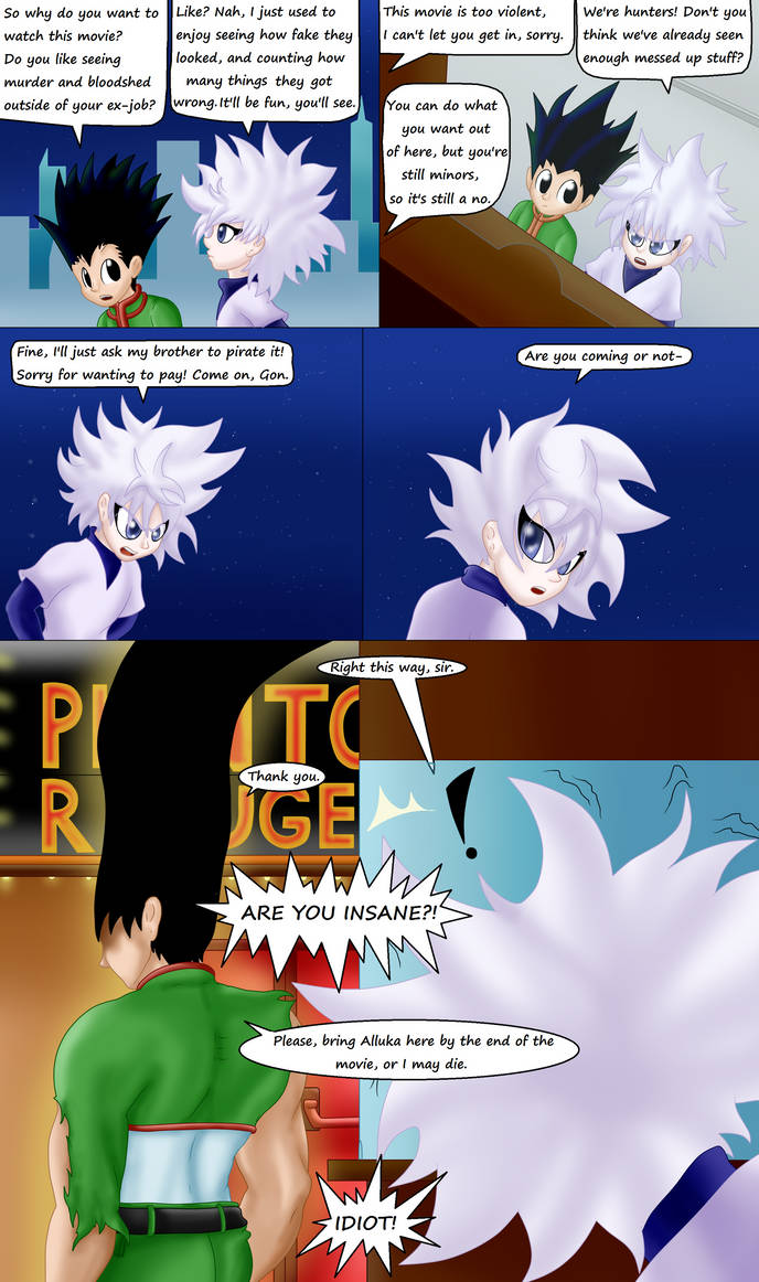 Gon and Killua go to see a movie by TheBadGrinch