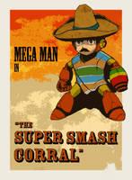 Megaman in 'The Super Smash Corral' by BritAndBran