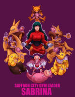 Sabrina the Psychic Gym Leader of Saffron City by BritAndBran
