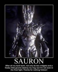 Sauron demotivator by KATTALNUVA