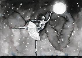 Inktober 2015 : Danseuse etoile by AzurLazuly