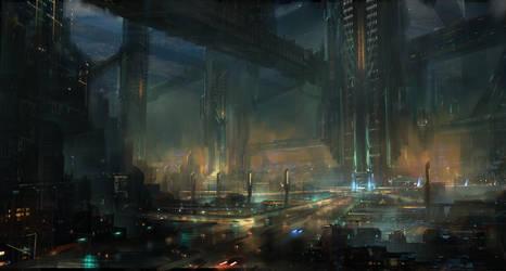 Sci-fi concept by Yellomice
