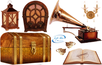 Vintage objects - PNG by lifeblue