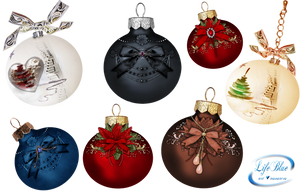 Christmas balls - PNG by lifeblue