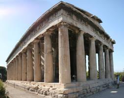 Greek temple by Water-flower