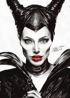 Maleficent. by FreedomforGoku