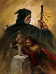 Merlin and Arthur by alanlathwell