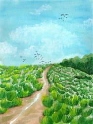 Salt Marsh by Meskarune