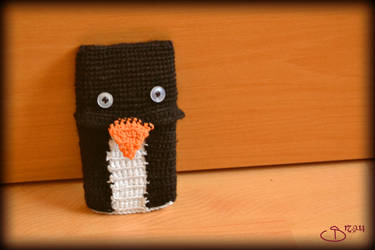 Penguin Cell Phone Sock by CarnivalOfVanity