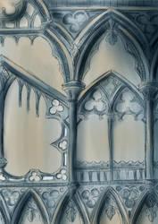 sketch of a church by CarnivalOfVanity