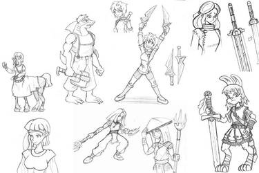 Sketches 2012-15 part d by TonberryKingIV