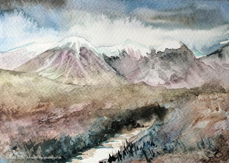 Mountain Stream by tracybutlerart