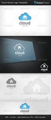 Cloud House Logo Template by Rafael-Olivra