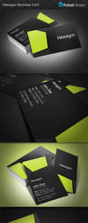 Hexagon Business Card by Rafael-Olivra