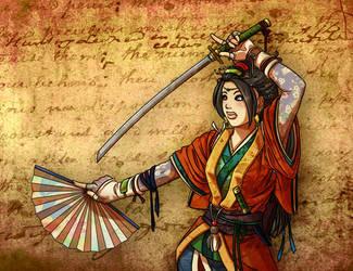 Le Pretty Samurai Gal by Shira-chan
