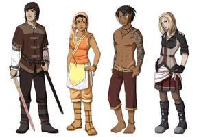 Character Lineup by Shira-chan