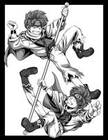 Saiyuki Versus - Goku by Shira-chan