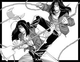 Saiyuki Versus - Gojyo by Shira-chan