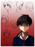 alessa anime sketch by WinterSpectrum