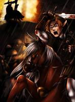Zelda TP: horse battle by WinterSpec