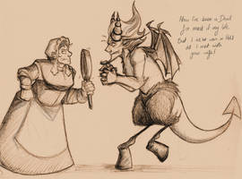 Devil and The Farmer's Wife by VanHinck