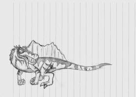 The New Spino in my 'Cartoon' Style by Pyroraptor42