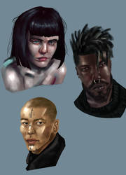 portraits by DMonkeyillustrations
