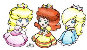 3 Princesses by BabyAbbieStar