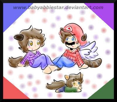 Gift: Mario, Damien, and Dylan by BabyAbbieStar