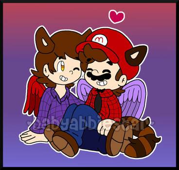 AT: Mario and Damien by BabyAbbieStar