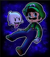 Cosmic Luigi by BabyAbbieStar