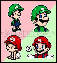 Artist Mimicry: Mario Bros by BabyAbbieStar