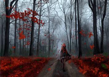 Autumn walk - first day of autumn by ximbixill