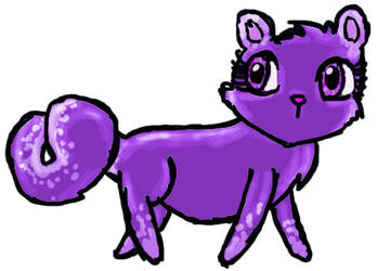 Purple otter thingy by squishyapple