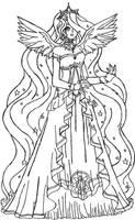 Princess Celestia (Human) by Sakurathewillow