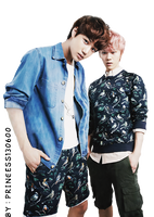 Kai and Luhan Exo png by Princess130600