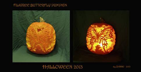 Butterfly Pumpkin by Zanne