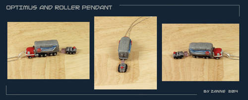 TF: Optimus and Roller Pendant by Zanne
