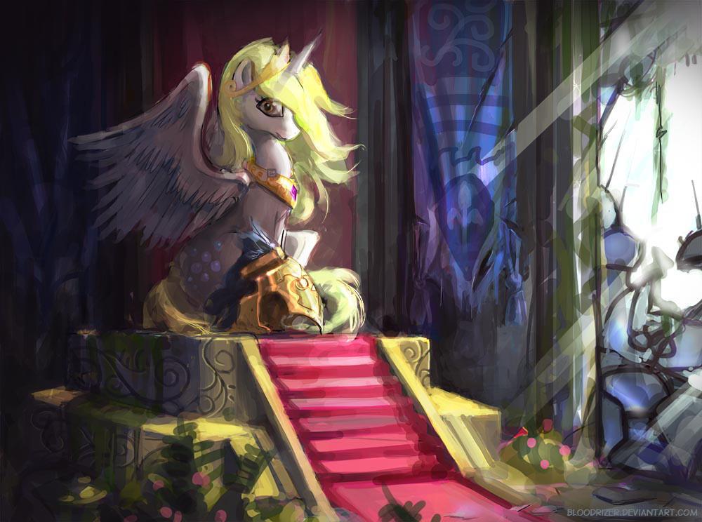 Derpy Throne by bloodrizer