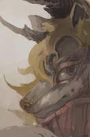 Drawception1 - wolfie by bloodrizer