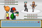 Ash and Misty vs Butch and Cassidy by BeeWinter55