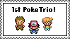 1st PokeTrio stamp by BeeWinter55