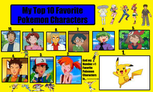 My Top 10 Favorite Pokemon Characters (Anime) by BeeWinter55