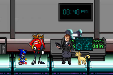 Giovanni meeting Eggman by BeeWinter55