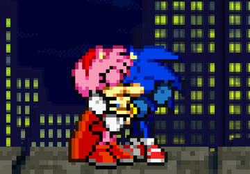 Sonic and PowerRose/Amy Rose by BeeWinter55