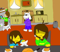 Deltarune Thanksgiving by PikaGamerthePikachu