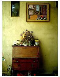 Tandem:  Color Antique Desk by Simmering
