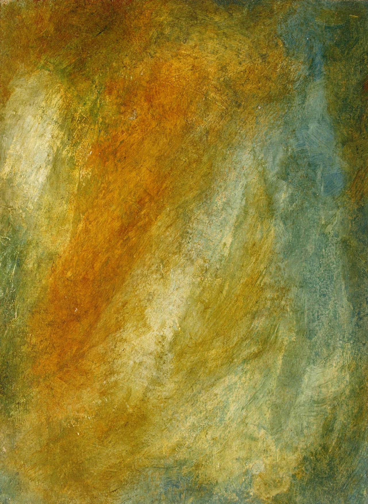 Abstract Dirty Brown and Blue by coiplet