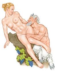 Satyr Embracing Nymph by MarkBlanton